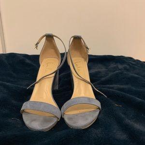 stone blue heels